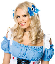 Cute Blue Hair Bows Poker Clips Cosplay Alice in Wonderland