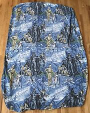Vintage Star Wars Empire Strikes Back Fitted Twin Bed Sheet 1979 Fabric Craft
