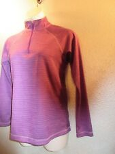 Jockey XL Purple  Shirt Half Zip Mock Neck Woman Base Layer NWOT