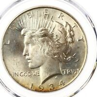 1934 Peace $1 PCGS Certified MS65 Original Eye Appeal Choice 65