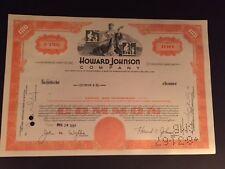 1967 Howard Johnson Company Stock Certificate