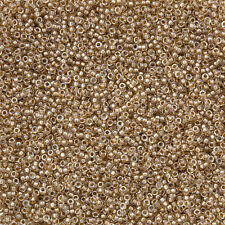Miyuki 15/0 Sparkle Light Bronze Lined Crystal Seed Beads 8.2g (N15/5)