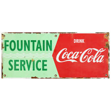 Fountain Service Drink Coca Cola Waves Wall Decal 24 X 10 Distressed