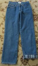 LL BEAN FLANNEL LINED ORIGINAL FIT JEANS SIZE 8