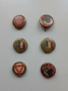 Six WW1 Pins, Badges, Australian patriotic fundraising campaigns,