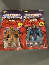 Masters of the Universe He Man And Skeletor action figures Super 7 Vintage MOTU