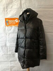 WBR35D Mint Velvet Black Puffa Jacket Size 12