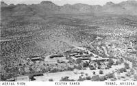Aerial View Kenyon Ranch Tubac Arizona 1953 RPPC Photo Postcard 2943