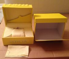 NEW INVICTA Yellow Watch Box Case + Suede Interior Pillow And Cloth