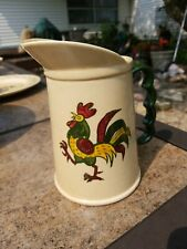 Rare Rooster Metlox Poppytrail Pitcher Grip Handle Pottery