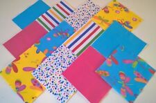 """30 x BABY RAINBOW DRAGONFLY 5"""" FABRIC PATCHWORK SQUARES PIECES CHARM PACK"""
