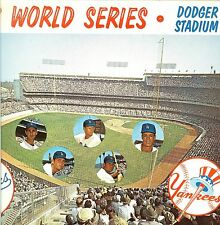 1963 world series baseball postcard dodgers yankees sandy koufax autographs