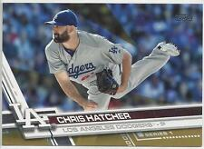 2017 Topps Gold: Chris Hatcher #325- Los Angeles Dodgers Serial #'d: 0254/2017