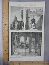 Rare Antique Original VTG Kunst Des Islam Illustration Art Print