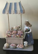 Lladro Style Like Flower Girl Exquisite Flowers Rare Stunning! Must Have! Mint.