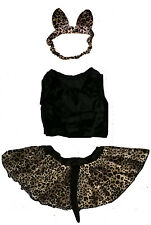 Baby Leopard Outfit Set Kitty Cat Girls baby infant dress up halloween costume