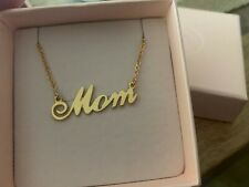"""Gold """"mom"""" Necklace from My Name Necklace"""