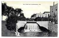Mid-1900s Mill Park Dam, Oconomowoc, WI Postcard