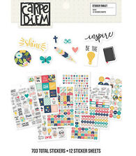 Carpe Diem FAITH - A5 PLANNER STICKER TABLET (703 Stickers!) Simple Stories