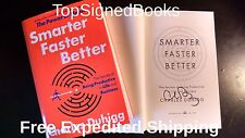 SIGNED Smarter Faster Better The Secrets of Being Productive Charles Duhigg new