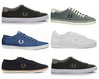 Fred Perry Mens Shoes Casual Underspin Kingston Twill Sidespin Sneakers
