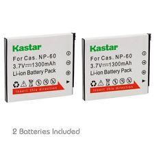 2x Kastar Battery for Casio Np-60 Exilim Ex-Z20 Ex-Z21 Ex-Z25 Ex-Z29 Ex-Z80