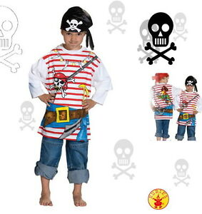 PIRATEN~T-SHIRT KOSTÜM PIRAT Piratenkostüm 98/104 110/116 122/128 134/140 152
