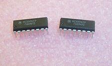 Qty (10) Mc10H162P Motorola 16 Pin Dip Decoder/ Demultiplexer Nos