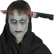 Halloween Fancy Dress Fake Joke Plastic Knife through Head Prank New by Smiffys