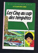 LES CINQ AU CAP DES TEMPETES  ENID BLYTON BIBLIOTHEQUE ROSE HACHETTE 1983