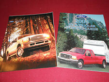 2000 FORD EXCURSION CATALOG / POSTER + '00 TRAILER TOWING GUIDE BROCHURE 2 for 1
