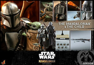 Hot Toys Star Wars The Mandalorian MANDALORIAN & CHILD 1/6th Figure Set TMS015