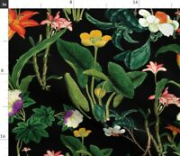 Flower Floral Botanical Vintage Floral Vintage Spoonflower Fabric by the Yard