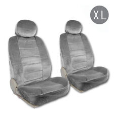Low Back Comfortable Seat Cover Set w/Headrest Covers for Car Truck SUV-XL Gray