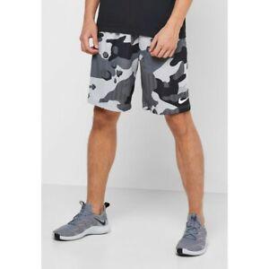 Nike Dri-fit 4.0 Camo Shorts Size Large  Black Camo/Smoke Grey/White  CV7653-077