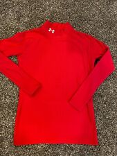 Under Armour youth compression cold gear long sleeve XL Red Mock Nice