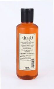 Khadi Natural Sandalwood Massage Oil Herbal product with natural goodness 210ml