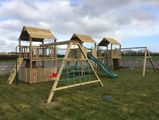 SALE!! NEW TRIPLE TOWER QUALITY CLIMBING FRAME 6ft BASE RSP £2795 Reduced Price