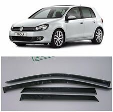 For VW Golf 6 VI 5d 2009-2012 Side Window Visors Sun Rain Guard Vent Deflectors