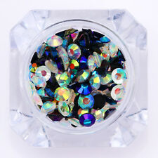2g Chameleon Rhinestone AB Color Flat Bottom Resin  3D Nail Decoration