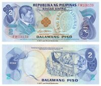 Philippines 2 Piso ND (1978) P-159c Sig. # 9 Banknotes UNC