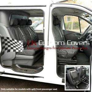 RENAULT TRAFIC CREW CAB 2014+ TAILORED FRONT & REAR SEAT COVERS 188 189