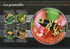Togo 2015 MNH Frogs 4v M/S Amphibians Poison Dart Frog Grenouilles Stamps