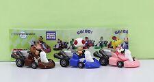 Super Mario Bros Figure 6cm Pull Back Car DONKEY KONG RED TOAD PRINCESS PEACH 42