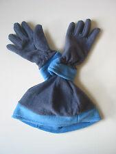 HAT & GLOVE SET BLUE AGE 4-8 YEARS