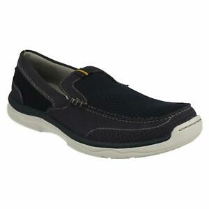 Cloudsteppers by Clarks Men Slip On Loafers Marus Edge Size US 9.5M Navy