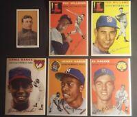1954 Topps Ted Williams 1954 Topps Hank Aaron 1954 Topps Al Kaline  Ernie Banks