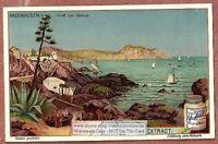 Gulf of Genoa Genes Riviera Italy  c1903 Trade Ad Card g