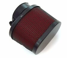 Black Mesh & Red Foam Oval Pod Air Filter - 39mm - Honda CB750