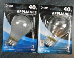 2 - Feit Electric BP40A15, 40W Appliance, Standard base, Light Bulbs